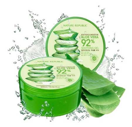 Skincare Terbaik Untuk Mengatasi Wajah Bruntusan - Nature Republic Aloe Vera 92% Soothing Gel