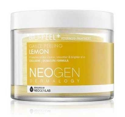 Skincare Terbaik Untuk Mengatasi Wajah Bruntusan - Neogen Bio-Peel Gentle Gauze Peeling Lemon