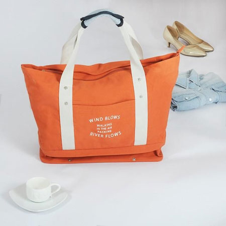 Merk Tote Bag Terbaik - Wind Blows River Flows Canvas Tote Bag