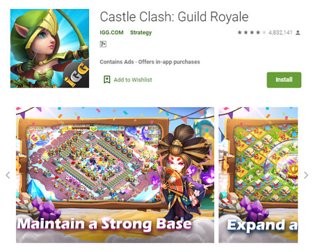15 Game Mirip Clash of Clans (COC) Terbaik - Castle Clash: Guild Royale