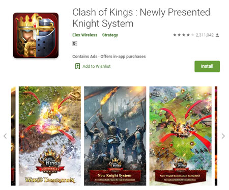 15 Game Mirip Clash of Clans (COC) Terbaik - Clash of Kings : Newly Presented Knight System