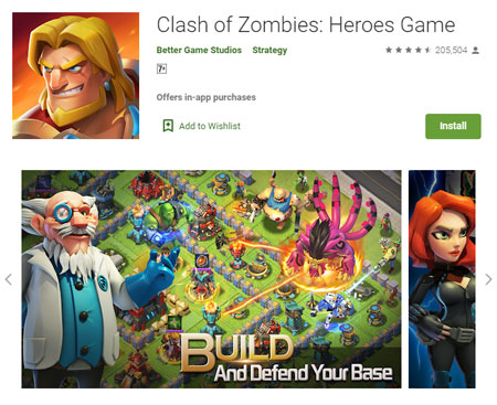 15 Game Mirip Clash of Clans (COC) Terbaik - Clash of Zombies: Heroes Game