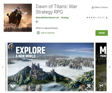 15 Game Mirip Clash of Clans (COC) Terbaik - Dawn of Titans: War Strategy RPG