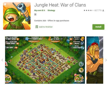 15 Game Mirip Clash of Clans (COC) Terbaik - Jungle Heat: War of Clans