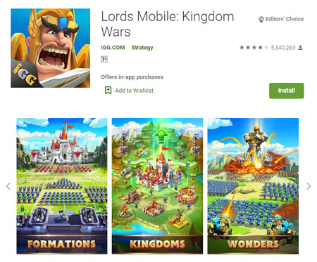 15 Game Mirip Clash of Clans (COC) Terbaik - Lords Mobile: Kingdom Wars