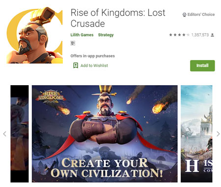 15 Game Mirip Clash of Clans (COC) Terbaik - Rise of Kingdoms: Lost Crusade