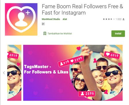 Aplikasi Penambah Followers Instagram Terbaik dan Gratis 2020 - Fame Boom Real Followers Free & Fast for Instagram