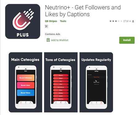 Aplikasi Penambah Followers Instagram Terbaik dan Gratis 2020 - Neutrino+