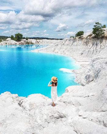 Daftar Tempat Wisata Paling Hits Di Bangka Belitung - Danau Kaolin