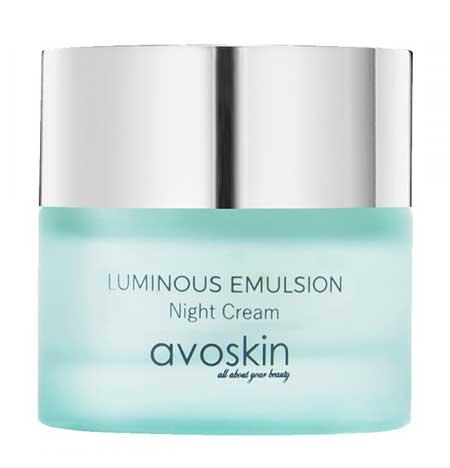 Krim Malam Terbaik Untuk Kulit Berminyak Dan - Avoskin Luminous Emulsion Night Cream