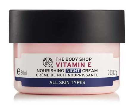 Krim Malam Terbaik Untuk Kulit Berminyak Dan - The Body Shop Vitamin E Nourishing Night Cream