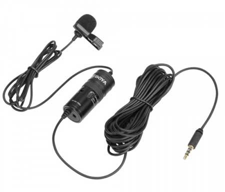 Microphone Untuk Youtuber Terbaik Dan Murah - Boya Clip-On Lavalier Microphone BY-M1