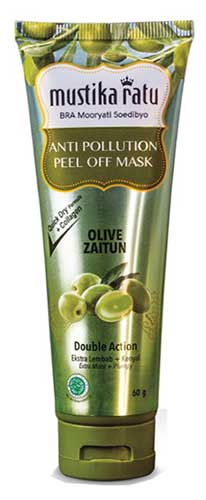 Skincare Untuk Kulit Kering - Mustika Ratu Anti Pollution Zaitun Peel Off Mask