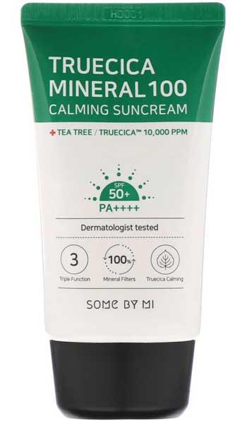 Sunscreen Untuk Kulit Berminyak Terbaik - Some By Mi Truecica Mineral 100 Calming Suncream SPF 50+ PA