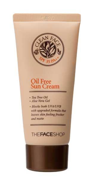 Sunscreen Untuk Kulit Berminyak Terbaik - The Face Shop Clean Face Oil Control Sun Cream