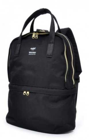 Tas Kuliah Wanita Yang Bagus - Anello Polyester Canvas Multifunction 2 Layers Backpack