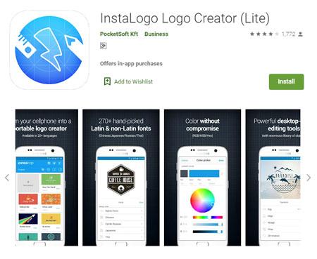 Aplikasi Pembuat Logo Terbaik di Android - Logo Maker - Logo Maker - InstaLogo Logo Creator (Lite)
