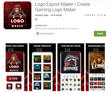 Aplikasi Pembuat Logo Terbaik di Android - Logo Esport Maker | Create Gaming Logo Maker