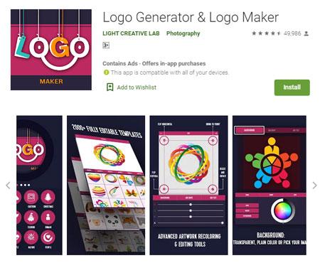 Aplikasi Pembuat Logo Terbaik di Android - Logo Generator & Logo Maker
