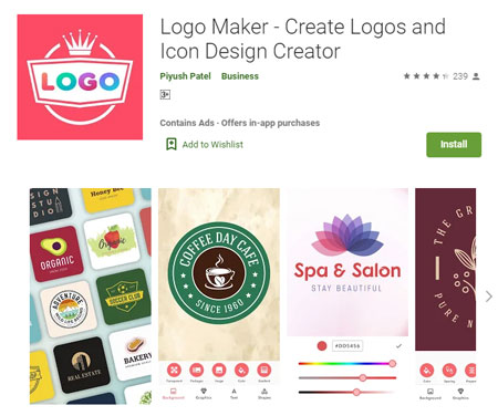 Aplikasi Pembuat Logo Terbaik di Android - Logo Maker - Logo Maker - Create Logos and Icon Design Creator