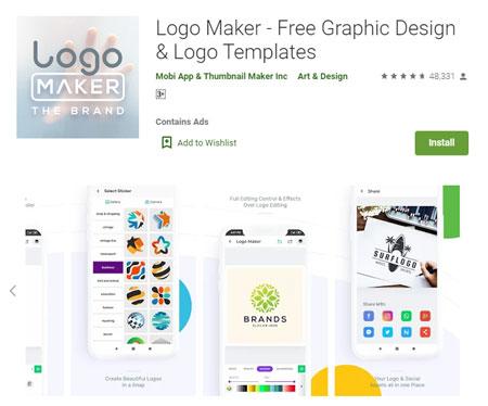 Aplikasi Pembuat Logo Terbaik di Android - Logo Maker - Free Graphic Design & Logo Templates
