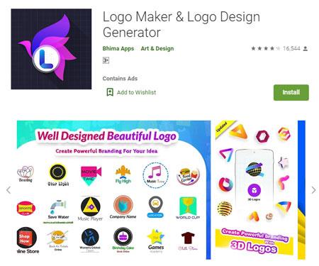 Aplikasi Pembuat Logo Terbaik di Android - Logo Maker & Logo Design Generator