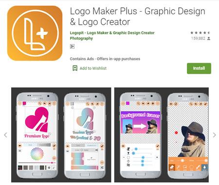 Aplikasi Pembuat Logo Terbaik di Android - Logo Maker Plus - Graphic Design & Logo Creator
