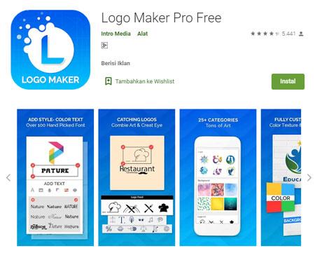 Aplikasi Pembuat Logo Terbaik di Android - Logo Maker Pro Free