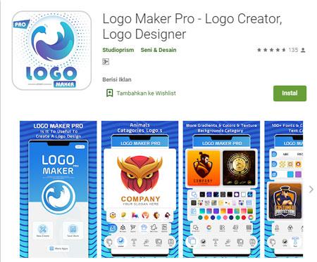 Aplikasi Pembuat Logo Terbaik di Android - Logo Maker Pro - Logo Creator, Logo Designer