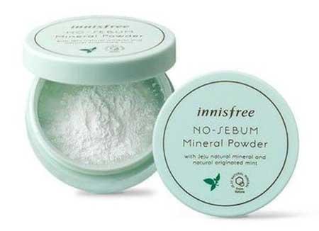 Bedak Untuk Kulit Sensitif - Innisfree No Sebum Mineral Powder