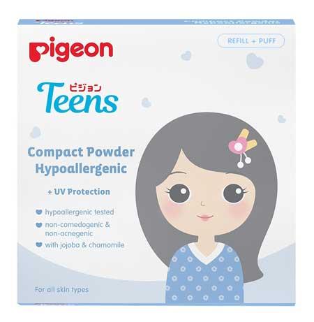 Bedak Untuk Kulit Sensitif - Pigeon Compact Powder Teens Hypoallergenic