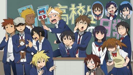 Daftar Anime Komedi Terlucu - Danshi Koukousei no Nichijou