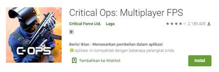 Game FPS Terbaik Di HP Android - Critical Ops