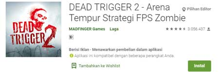 Game FPS Terbaik Di HP Android - Dead Trigger 2