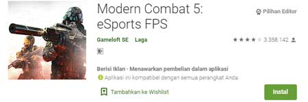 Game FPS Terbaik Di HP Android - Modern Combat 5