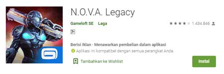 Game FPS Terbaik Di HP Android - N.O.V.A. Legacy