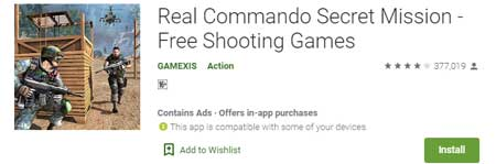 Game FPS Terbaik Di HP Android - Real Commando Secret Mission
