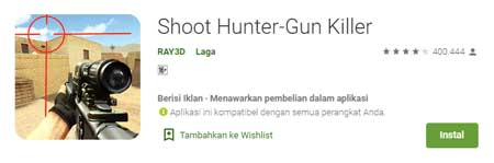 Game FPS Terbaik Di HP Android - Shoot Hunter-Gun Killer