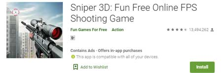 Game FPS Terbaik Di HP Android - Sniper 3D Fun Free Online