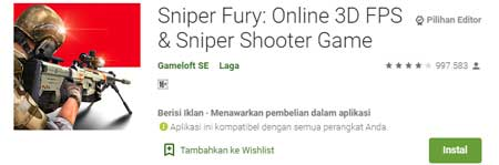 Game FPS Terbaik Di HP Android - Sniper Fury