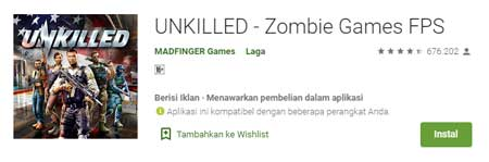 Game FPS Terbaik Di HP Android - Unkilled