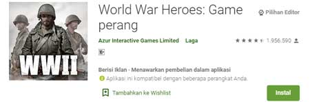 Game FPS Terbaik Di HP Android - World War Heroes