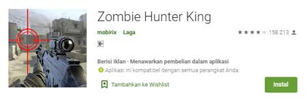 Game FPS Terbaik Di HP Android - Zombie Hunter King