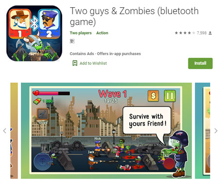 18 Game Multiplayer Offline Terbaik 2020 - Two guys & Zombies (bluetooth game)