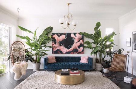 Inspirasi Desain Ruang Tamu Dengan Tanaman Hias