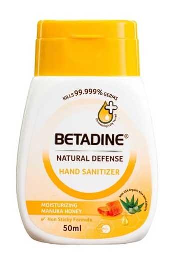 Merk Hand Sanitizer Bagus - Betadine Natural Defense Nourishing Manuka Honey Hand