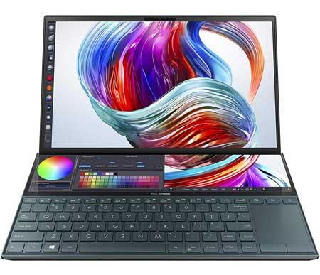Merk Laptop Yang Bagus Untuk Desain Grafis - Asus ZenBook Duo UX481FL i7 10510U