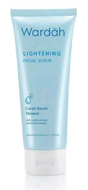 Produk Skincare Wardah Untuk Kulit Berminyak - Wardah Lightening Facial Scrub