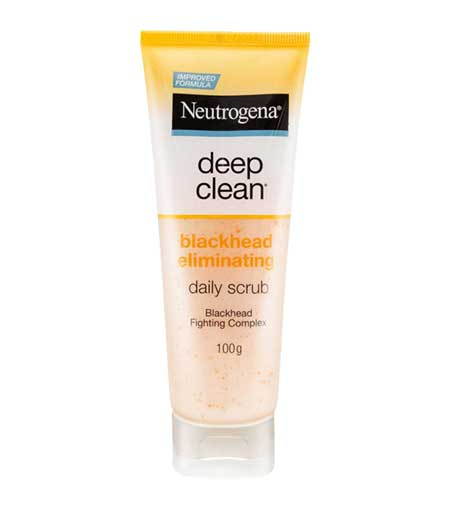 Produk Untuk Mengatasi Komedo Dan Pori-pori - Neutrogena Deep Clean Blackhead Eliminating Scrub