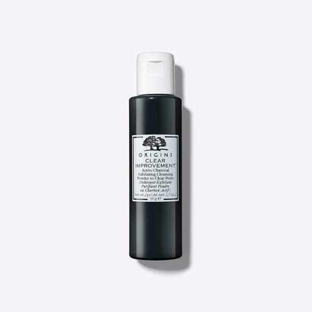 Produk Untuk Mengatasi Komedo Dan Pori-pori - Origins Clear Improvement Active Charcoal Exfoliating Cleanser Powder